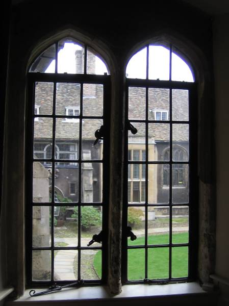 Picture looking into old court